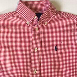 Polo Ralph Lauren  gingham shirt boys sz 4 4T!